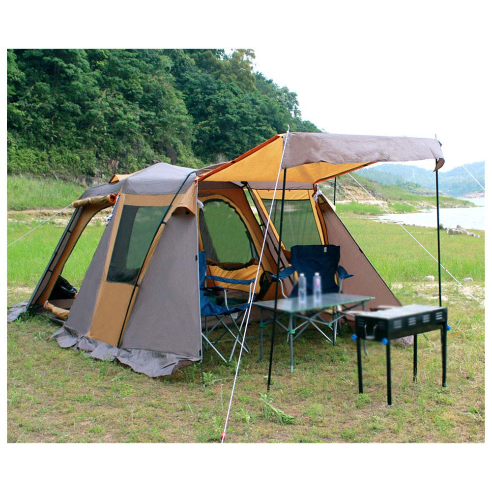 Zelt, 5-8 Personen Alle Automatischen Pop-Up-Tents Ultra Large Waterproof Anti UV-Family Camping One Room One Hall Zents