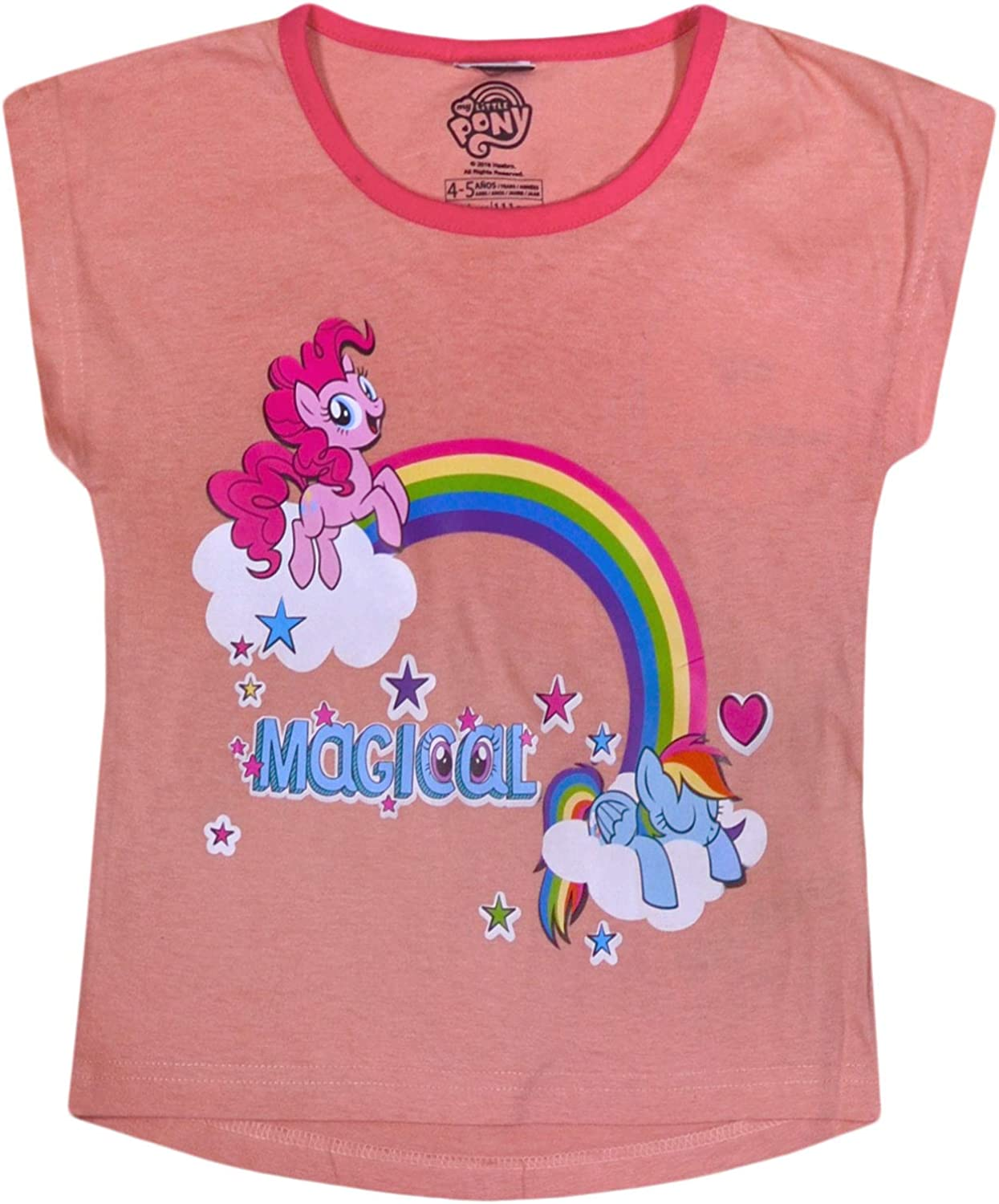 JollyRascals Girls T-Shirt My Little Pony 2 Pack Unicorn Top Kids New 100/% Cotton Summer Holiday Tops 2 Psc Ages 2 3 4 5 6 7 Years