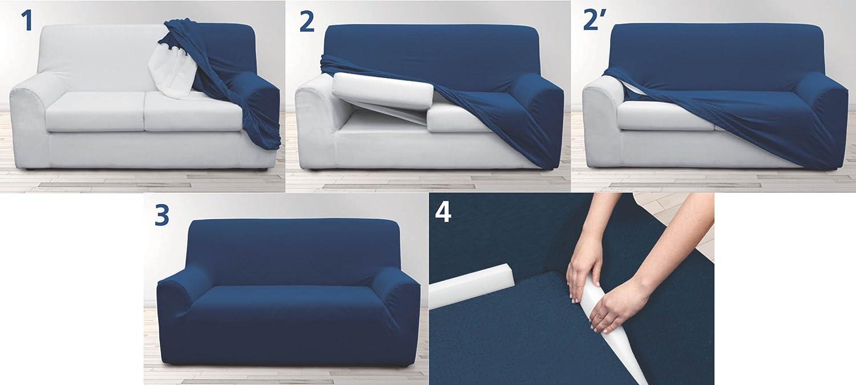 Sofa Bezug amazon de velfont bielastischer sofabezug roma 3 sitzer grau
