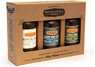 product image for West Coast Cocktail Mixers Gift Box (8oz 3-pack) - Bloody Mary Elixir, Michelada Shrub and Pickle Brine