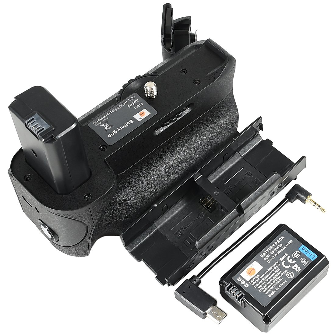 DSTE Pro VG-6500 Vertical Battery Grip + NP-FW50 for Sony A6500 Digital Camera as NP-FW50