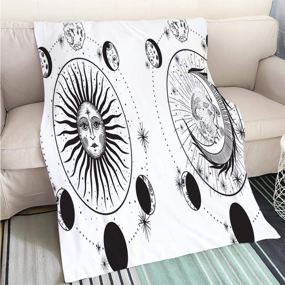 color8 47 x 80in Creative Flannel Printed Blanket for Warm Bedroom The end of The World Perfect for Couch Sofa or Bed Cool Quilt