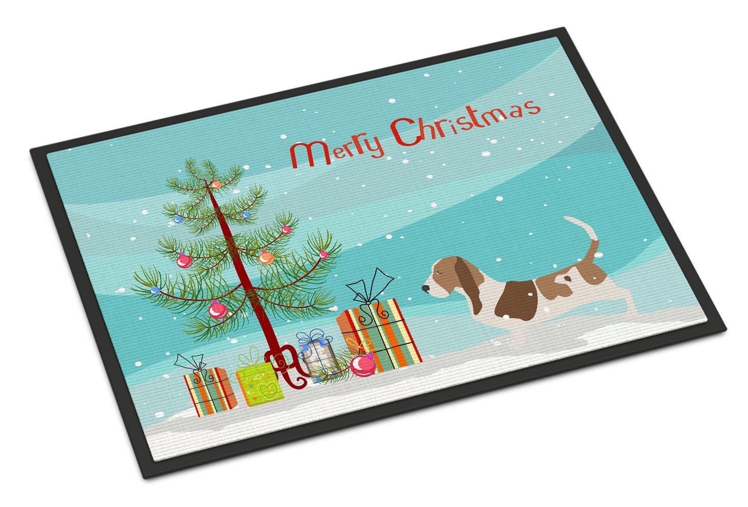 Carolines Treasures Maltese Merry Christmas Tree Indoor or Outdoor Mat 18x27 BB2954MAT 18 x 27 Multicolor