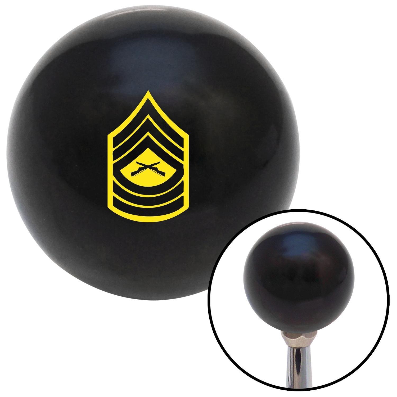 Yellow 07 Master Sergeant American Shifter 107181 Black Shift Knob with M16 x 1.5 Insert