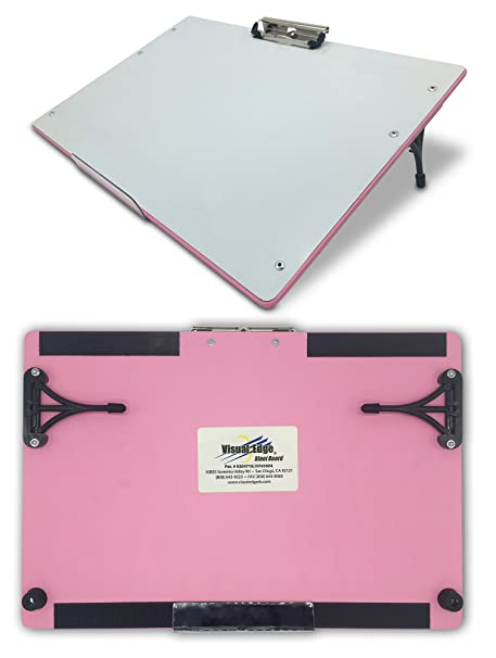 Amazon.com: Visual Edge Slant Board (Pink), A Sloped Work Surface ...