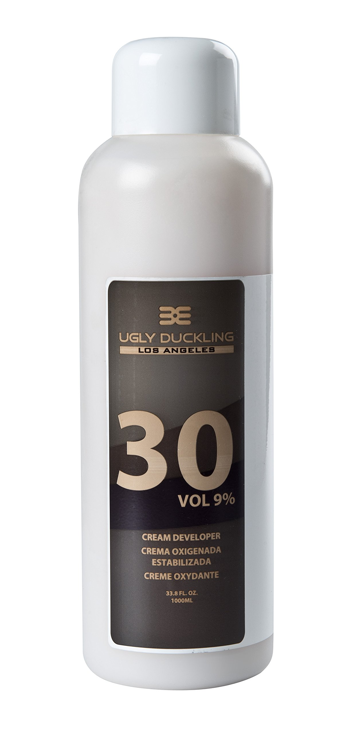 Ugly Duckling Los Angeles Professional 30 Volume (9%) CREAM DEVELOPER 33 oz (1 liter). For salon use, large size. For 2-3 levels of lift. Made in Europe by Ugly Duckling Los Angeles (Image #1)