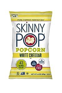 SkinnyPop Popcorn, White Cheddar, 4.4 oz