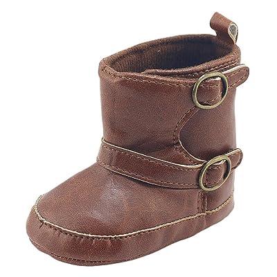 Pour 0–18mois, Clode® pour enfant bébé garçon enfants PU Cuir souple Semelle Bottes de neige Sneaker Prewalker enfant Bottes en caoutchouc décontracté Chaussons Pantoufles (0