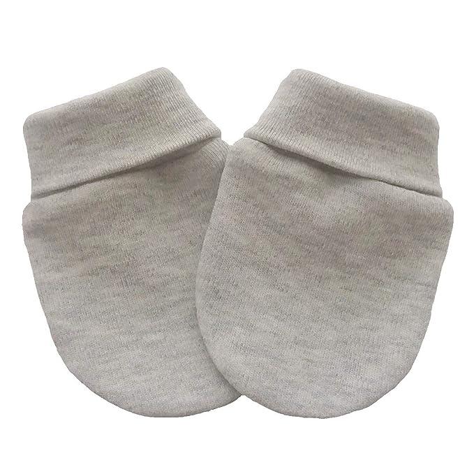 Manoplas anti arañazos para bebé orgánico del algodón recién nacido ...