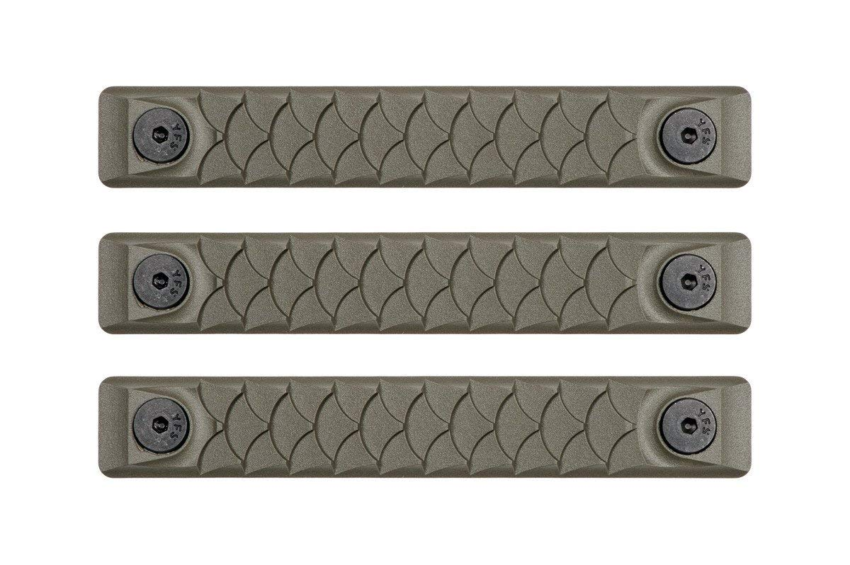 RailScales High Temp Polymer HTP Scales - Multiple Options (KeyMod 3 Pack, Dragon OD Green) by RailScales