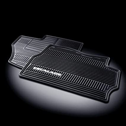 5a2650905c Amazon.com  GM   17803323 Floor Mats - Front Premium All Weather Set - Ebony  with Escalade Logo  Automotive