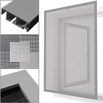 eed3d065e272b3 proheim Insektenschutz Fenster nach Maß in Silber Fliegengitter mit  Alurahmen für Fenster Insektenschutzfenster Maßanfertigung fertig verpresst