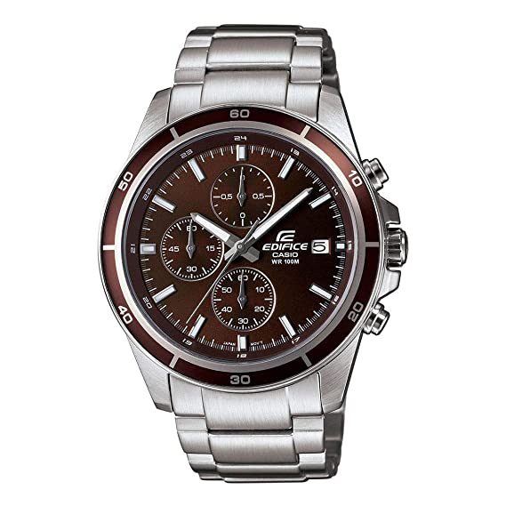 Buy Casio Edifice Chronograph Brown Dial Men s Watch - EFR-526D-5AVUDF  (EX094) Online at Low Prices in India - Amazon.in 403a9ffc843