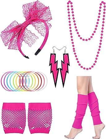Conjunto de accesorios para disfraz de los años 80 para mujer ...