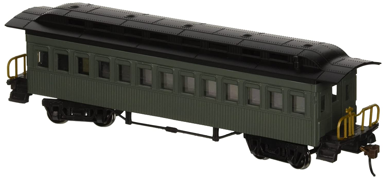 Bachmann Industries 1860 1880 Passenger Cars Coach Painted Unlettered Green HO Scale