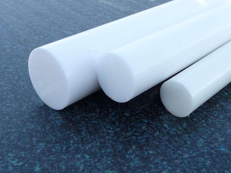 Teflon Joncs pleins PTFE PTFE barre blanc /Ø 12 mm longueur 500 mm