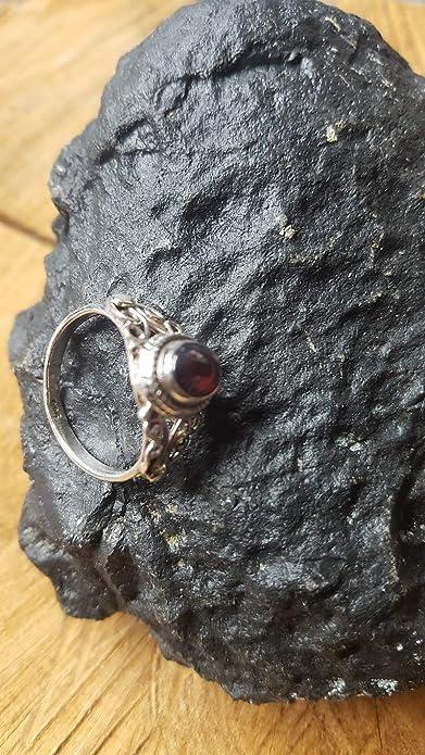 CHIC de Net Plata Anillos granate Cuerdas espiral arcos círculos ovalado 925 plata de ley anillos joyas 50 (15.9): Chic-Net: Amazon.es: Joyería