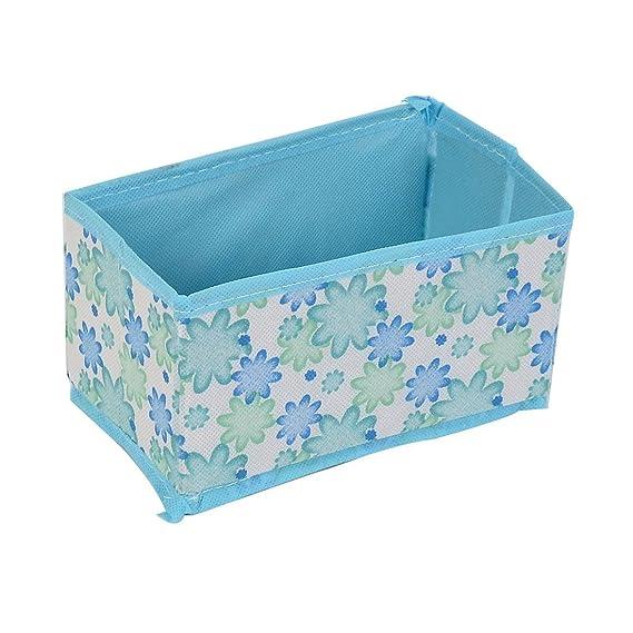Amazon.com: Patrón Floral eDealMax Tabla de escritorio caja de almacenaje plegable del caso 3 Pcs Azul: Kitchen & Dining