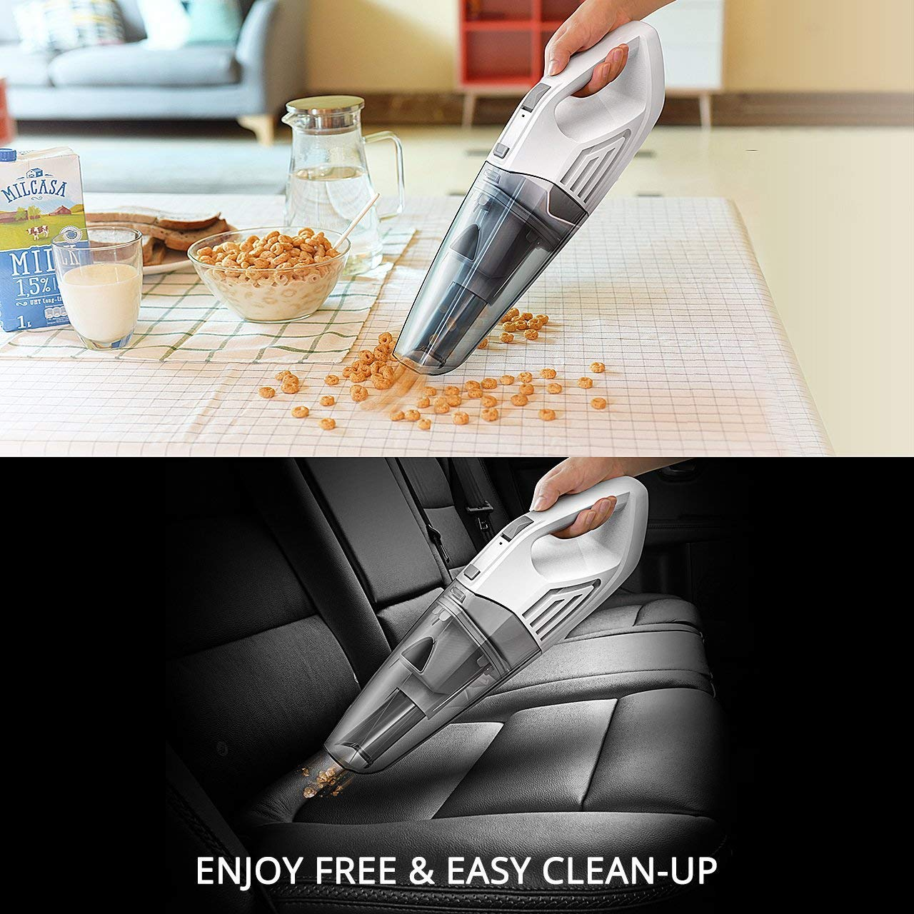 22.2V Hand Held Car Vac Rechargeable Battery Cordless Vacuum for Wet//Dry//Home//Car Use Holife Handheld Vacuum Cleaner Cordless