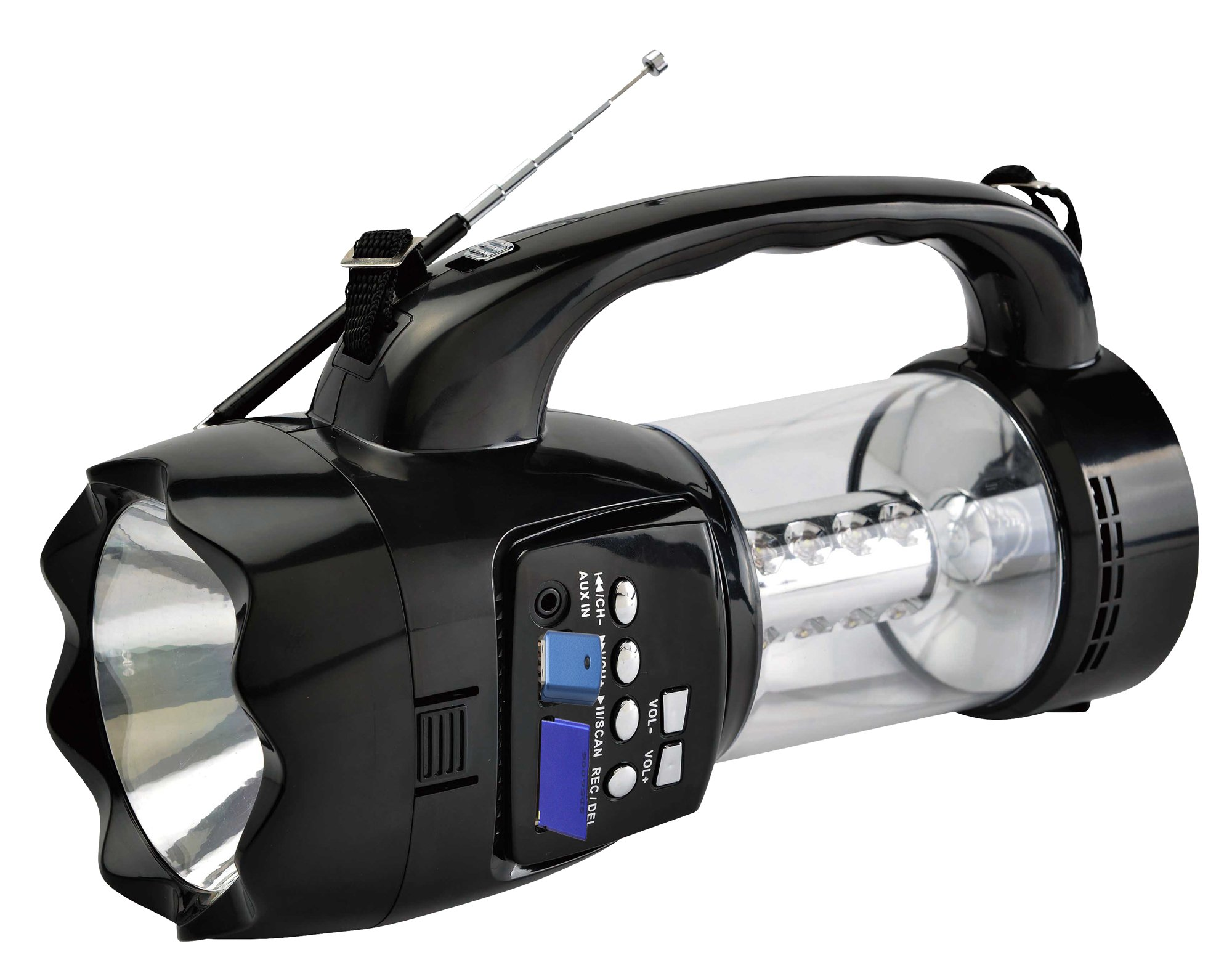 QFX Hangable; Portable Novelty Radio Black (R-180)