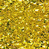 Biodegradable Glitter, Chunky 1mm Size 5 Gram Bag (Gold)