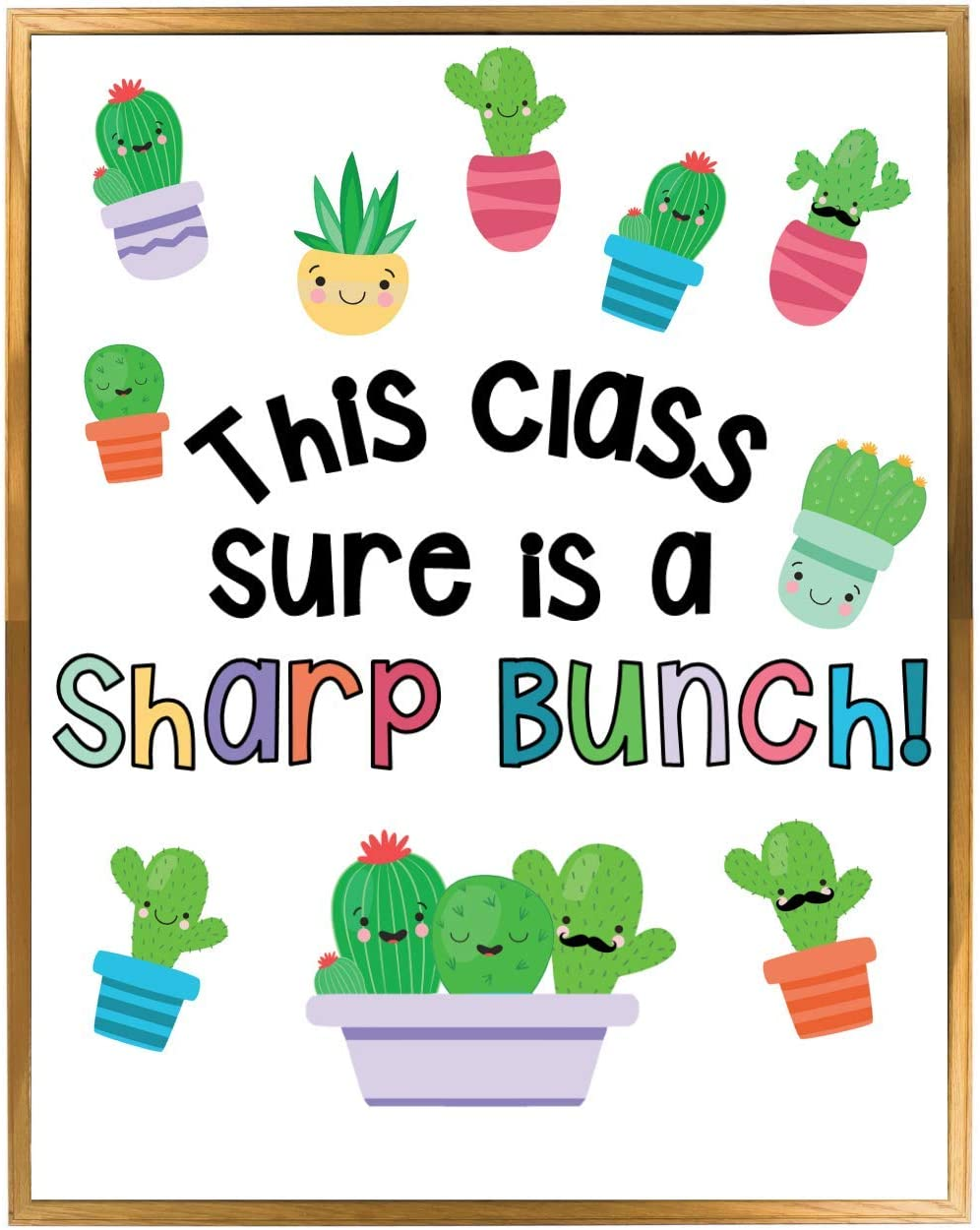 Cactus Theme Classroom Bulletin Board Decoration Set, Succulent Themed Welcome Banner, Wall or Door Decor, Ready to Use, Huge Time Saver for Teachers, Colorful Classroom Decorations