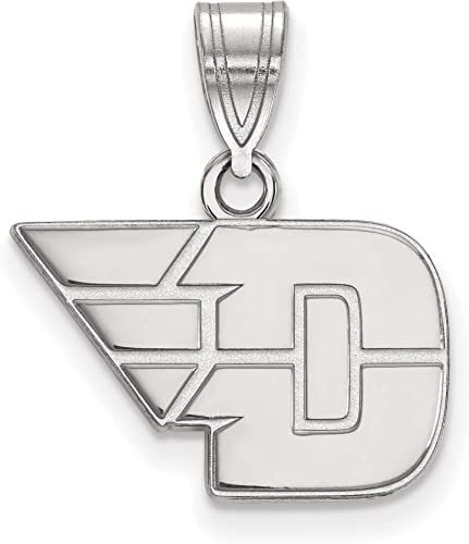 925 Sterling Silver Rhodium-plated Laser-cut University of Miami Large I Love Logo Pendant