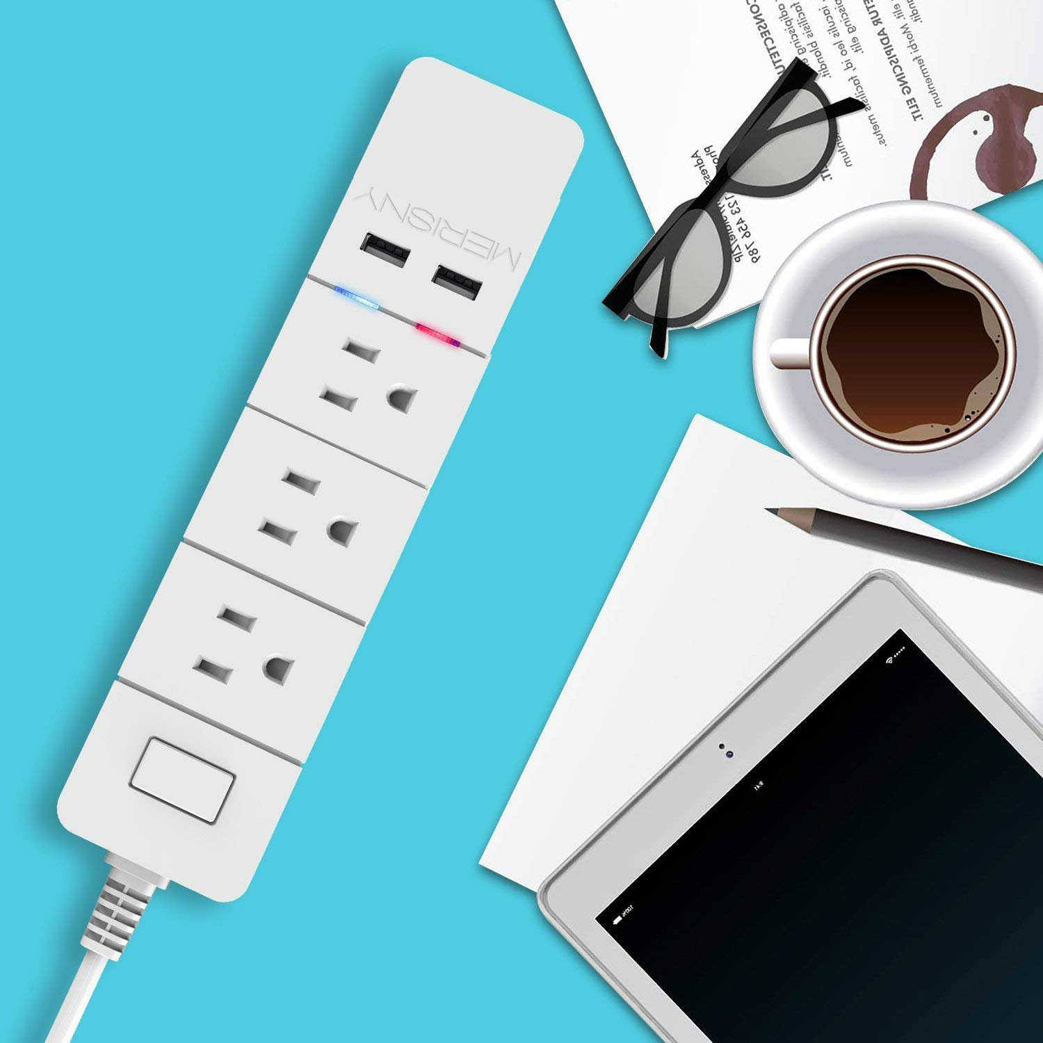 Merisny WiFi Power Strip Smart Surge Protector with Individual Control - Works with Alexa Google Home - Smart Surge Protector with USB - Remote Control by Smart Phone by Merisny (Image #6)