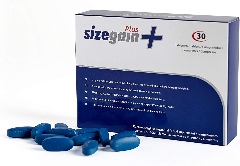 Sizegain Plus Pastillas Para Alargar El Pene 30 Comprimidos Amazon Es Salud Y Cuidado Personal