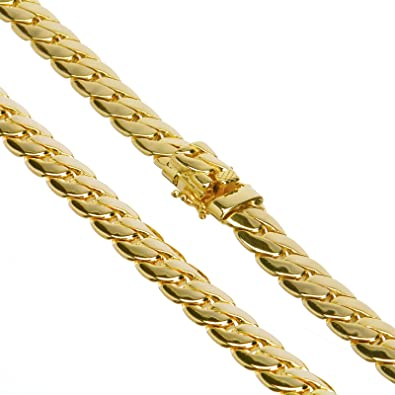 475e086179eb7 METALTREE98 Gold Plated Heavy Cuban Link Chain Box Clasp Safety Lock ...