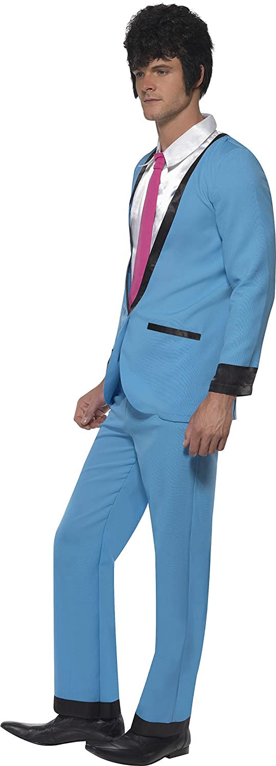 Teddy Boy Mens Costume From Express Fancy Dress , Color : blue ...