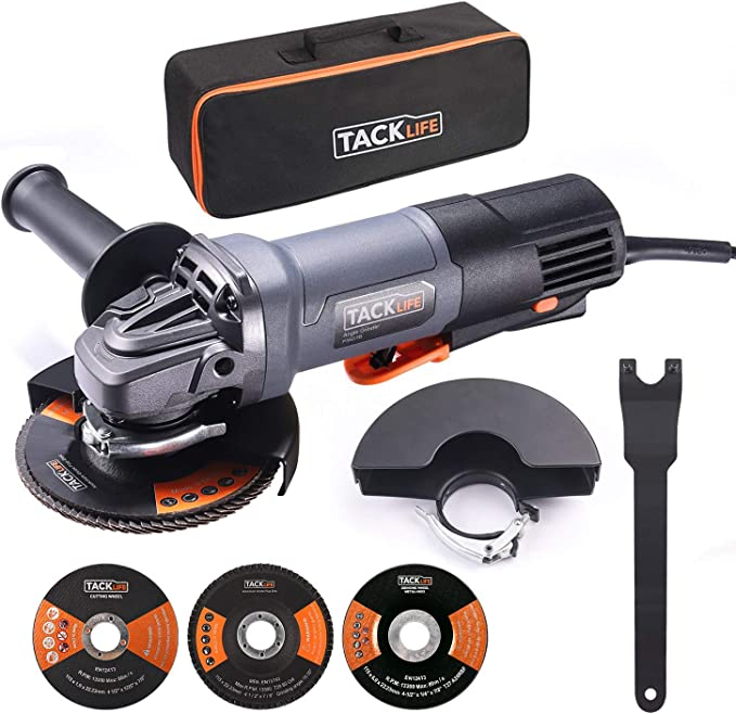 Compact and Lightweight 5 Year Warranty 6.2-Amp Motor Renewed Includes 5 Grinding Wheels and Hard Case Metabo HPT G12SR4 4-1//2-Inch Angle Grinder