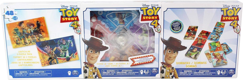 BIZAK 61929812 Cardinal Toy Story Lot de 3 Jeux Puzzle Parchis Domino