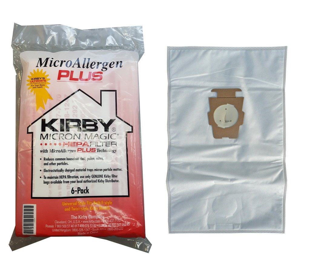 Kirby Micron Magic Micro Allergen Plus HEPA Vacuum Filter Bags Package of 6 #204814A by Kirby