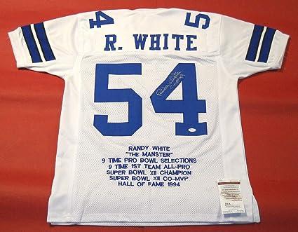 22b8298a Randy White Autographed Signed Dallas Cowboys Stat Jersey Memorabilia - JSA  Authentic