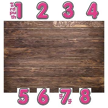 Amazoncom Lywygg 6x4ft Thin Vinyl Brown Wood Backdrop