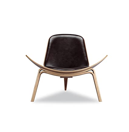 Replica Hans Wegner Shell Chair Walnut Black