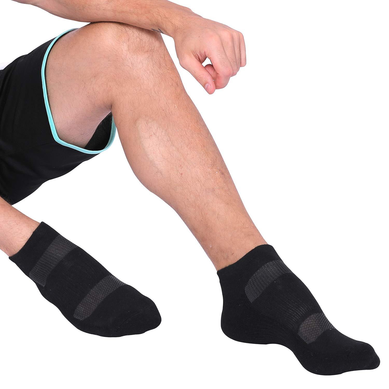 Jormatt 6 Pairs Mens Athletic Running Performance Ankle Low Cut Socks