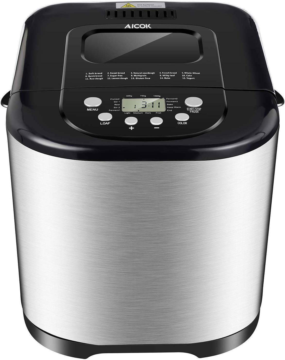 Aicok - Máquina para hacer pan Elegante: Amazon.es: Hogar