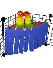 Bird Fleece Nest Hammock Hideaway Corner Tent Bed Toy for Pet Parrot Budgie Parakeet Cockatiel Conure African Grey Amazon Lovebird Finch Canary Hamster Rat Gerbil Chinchilla Ferret Squirrel Cage