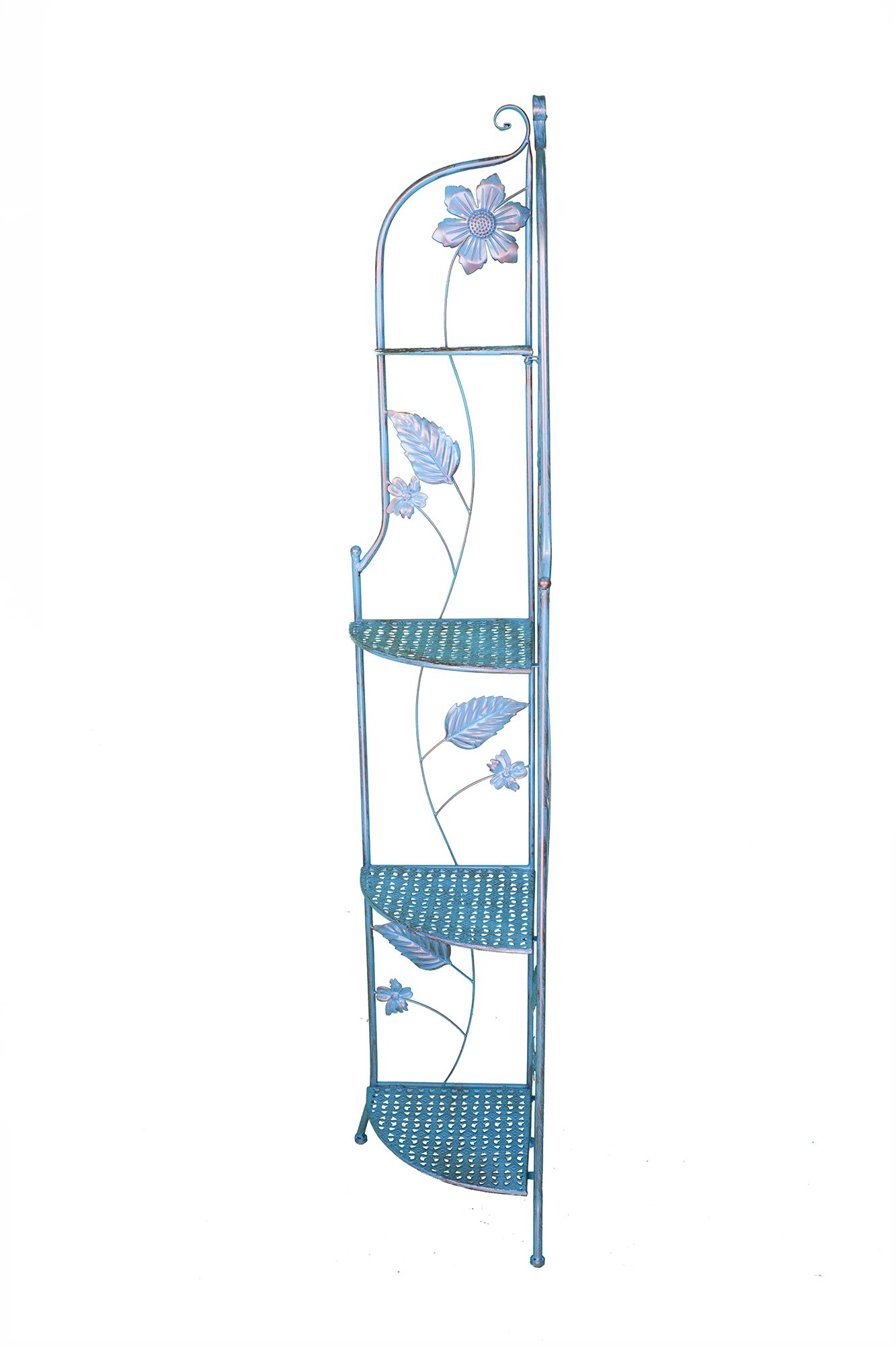 Heather Ann Creations W190799-BC Sunny Kitchen Corner Bakers Rack, Blue Copper by Heather Ann Creations (Image #2)