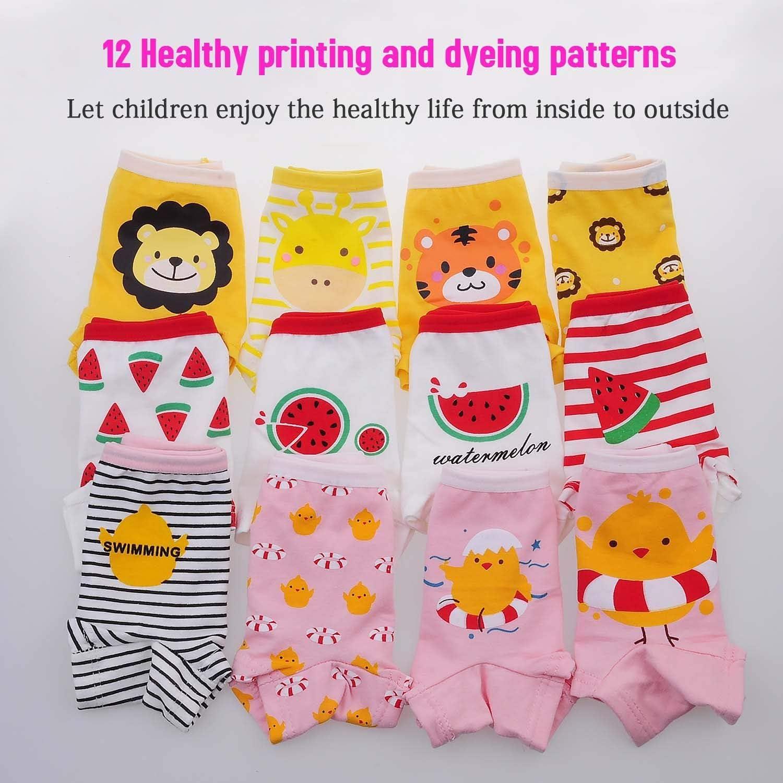 Confezione da 12 Anntry Intimi per Bambini di Serie Kid Mutandine Culotte in Cotone per Bambine Piccole 2 a 10 Anni