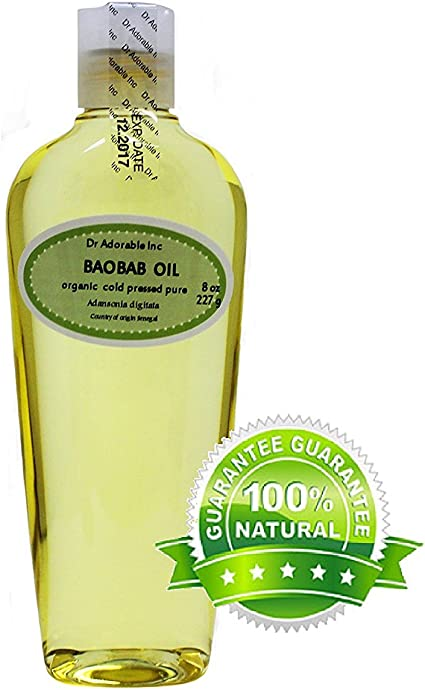 Baobab Carrier Oil By Dr Adorable 100 Pure Organic Cold Pressed 8 Oz Amazon Co Uk Beauty
