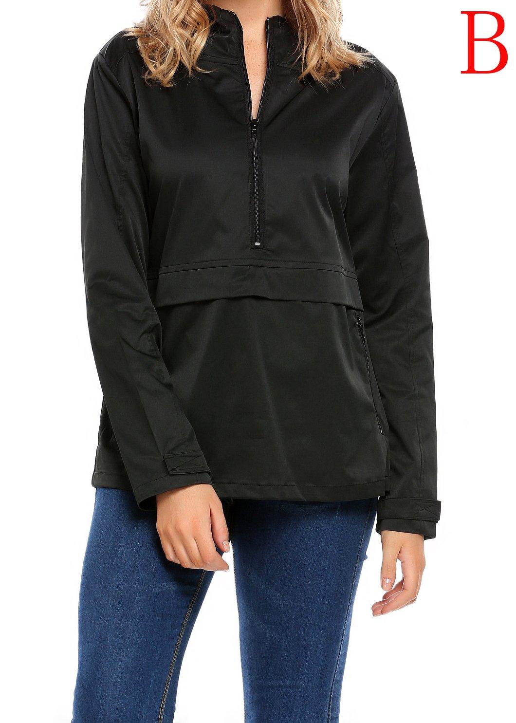 SummerRio Women's Waterproof Venture Resolve Softshell Rainwear Jacket (Black,Medium) by SummerRio (Image #2)