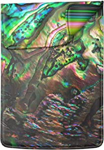 Lex Altern Laptop Sleeve Case Compatible with Apple MacBook Pro 13 2020 Air Mac Pro 16 15 Retina 11 12 14 17 inch Abalone Shell Purple Green Psychedelic Texture Art Print Computer Leather Coverage