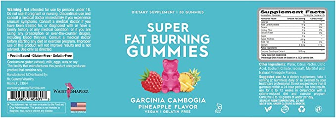 Amazon Com Super Fat Burning Gummies Health Personal Care