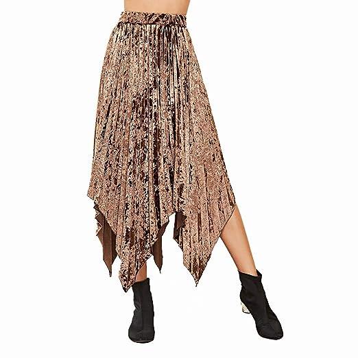WUSHIYU Minifaldas de Cintura Alta para Mujer Faldas largas para ...