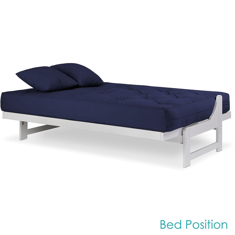 Amazon.com: Arden - Juego de futón blanco para cama de ...
