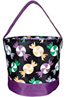 Personalized Toy, Easter, Halloween Round Basket Bag - Storage Bucket