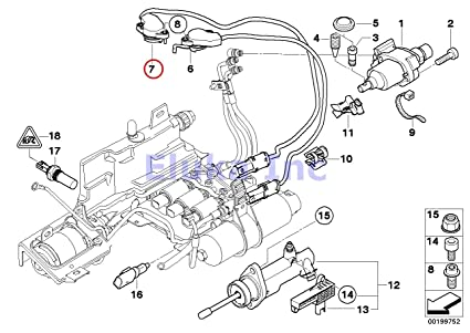 bmw genuine right gear position sensor for sequential manual gearbox (smg) 325ci  325i 330ci